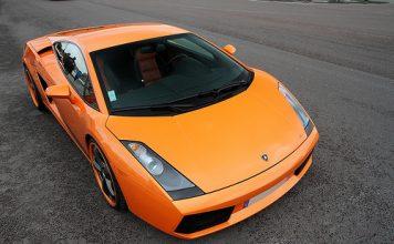 An orange Lamborghini Gallardo Spider