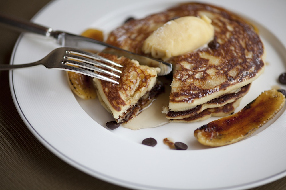 Banana-Chocolate Panckes