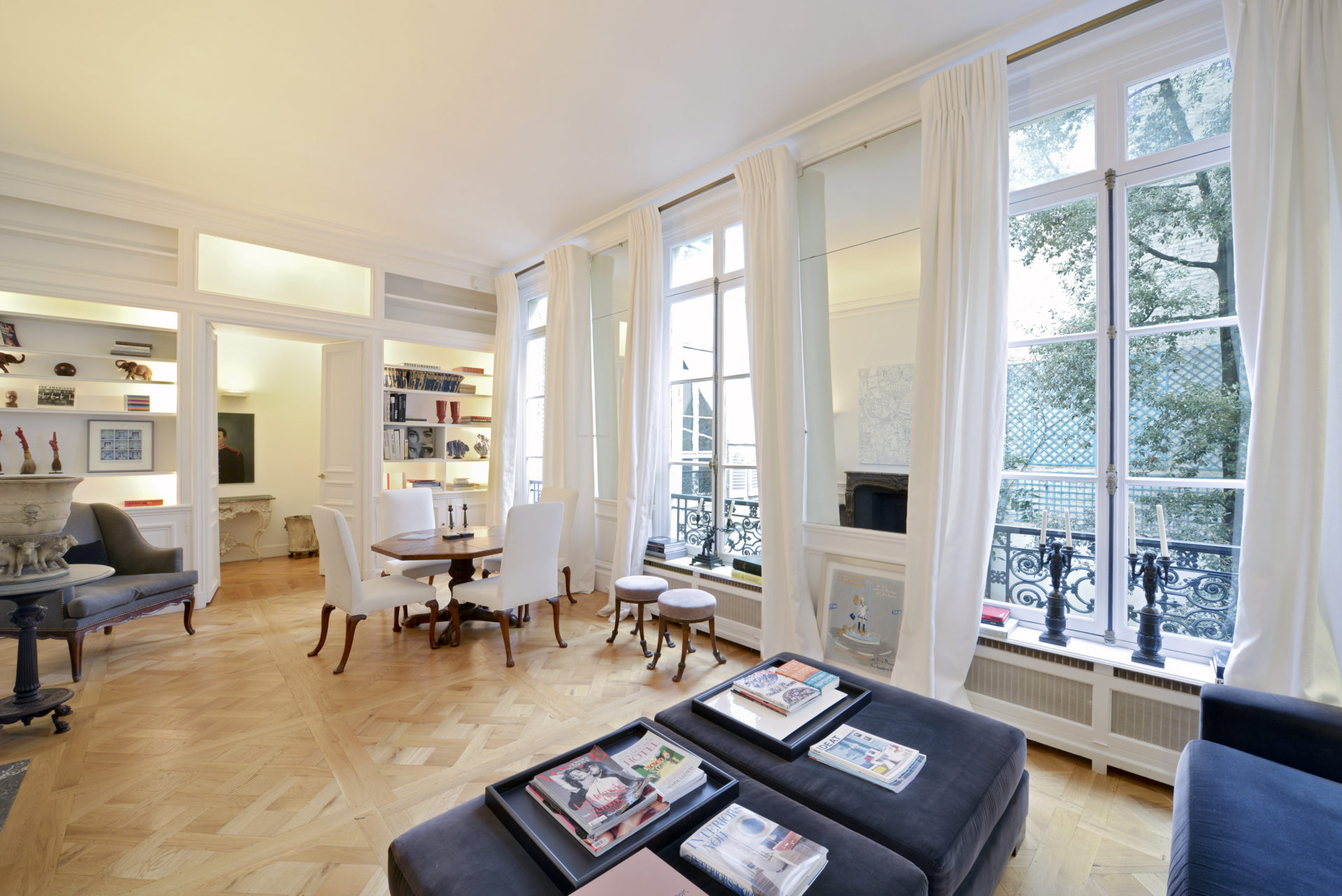 large living room in a paris apartment for sale