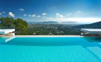 infinity pool with view ibiza