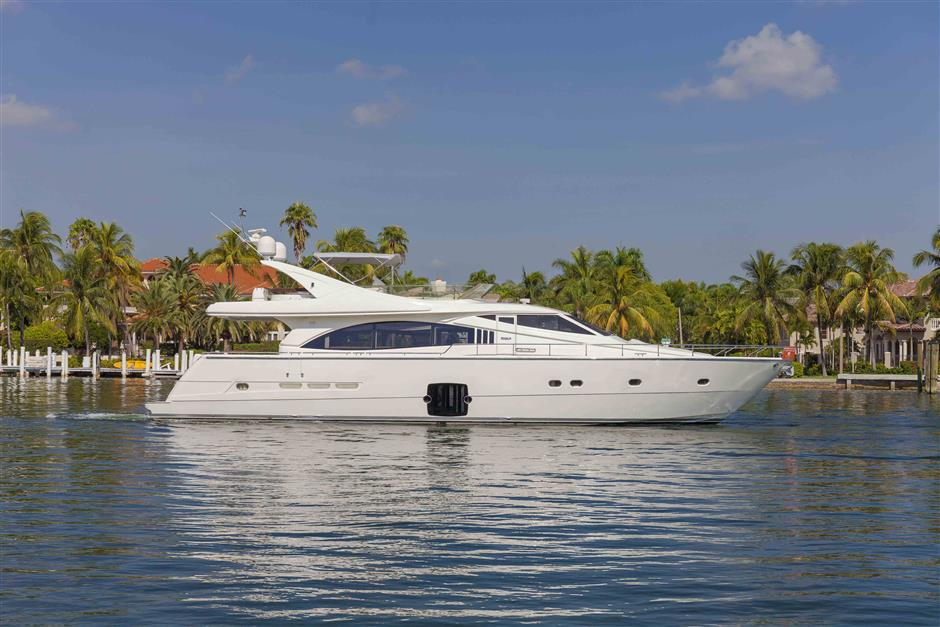 73´Ferretti motor yacht for sale, profile