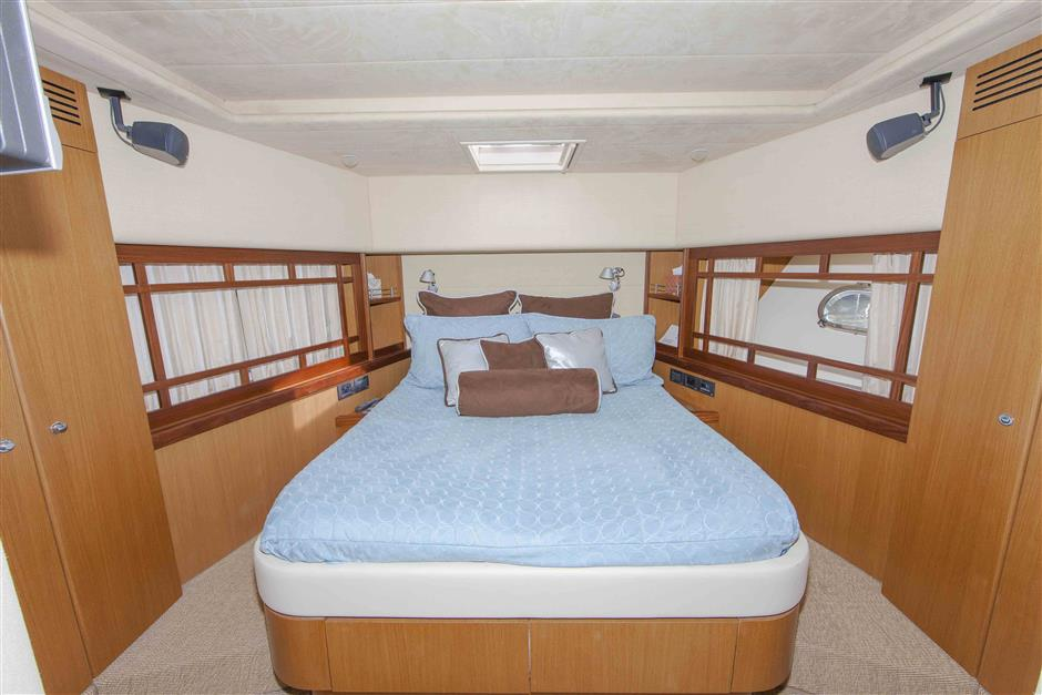 73´Ferretti motor yacht for sale, VIP stateroom