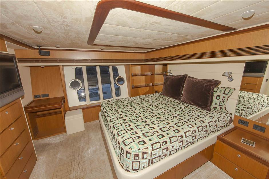 73´Ferretti motor yacht for sale, master stateroom