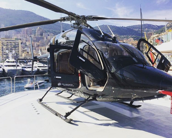 Helicopter at Monaco Grand Prix