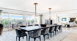 monaco luxury apartment dining room